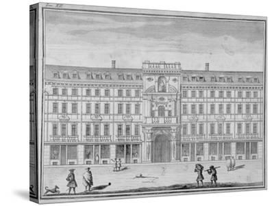 View of the Mercers' Company Hall and Chapel, Cheapside, City of London, 1690--Stretched Canvas Print