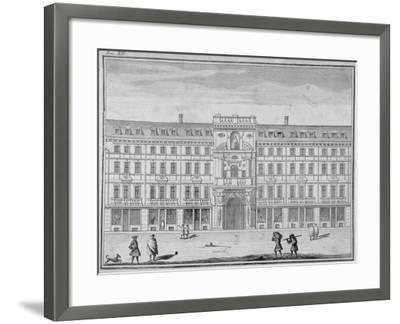 View of the Mercers' Company Hall and Chapel, Cheapside, City of London, 1690--Framed Giclee Print