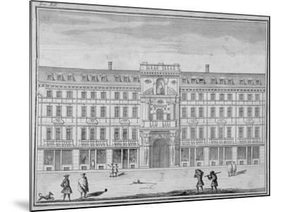 View of the Mercers' Company Hall and Chapel, Cheapside, City of London, 1690--Mounted Giclee Print