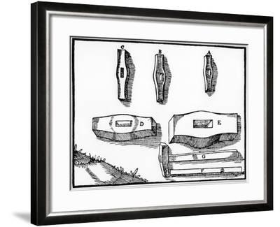 Miner's Hammers of Various Sizes, 1556--Framed Giclee Print