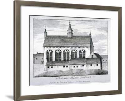 The Bishop of Winchester's Palace, Winchester House, Southwark, London, 1801-William Richardson-Framed Giclee Print