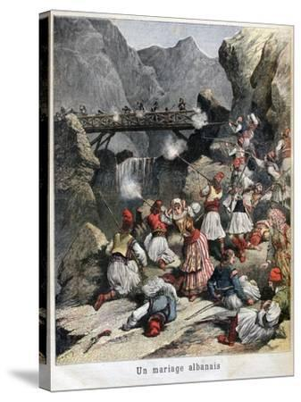 An Albanian Marriage, 1892--Stretched Canvas Print