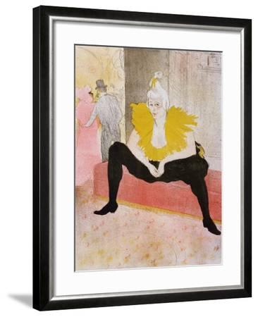 Seated Clowness, 1896-Henri de Toulouse-Lautrec-Framed Giclee Print