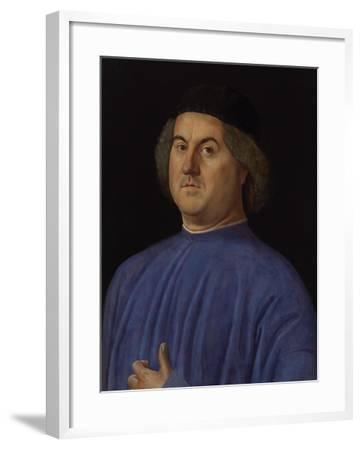 Portrait of a Man, 1497-Alvise Vivarini-Framed Giclee Print