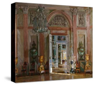 The Great Vestibule in the Kuskovo Palace, 1917-Stanislav Yulianovich Zhukovsky-Stretched Canvas Print