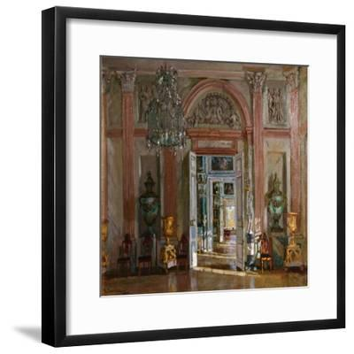 The Great Vestibule in the Kuskovo Palace, 1917-Stanislav Yulianovich Zhukovsky-Framed Giclee Print