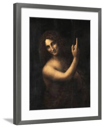 Saint John the Baptist, 1513-1516-Leonardo da Vinci-Framed Giclee Print