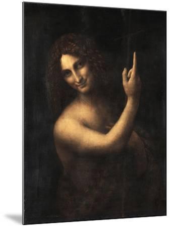 Saint John the Baptist, 1513-1516-Leonardo da Vinci-Mounted Giclee Print