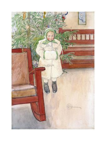 Girl and Rocking Chair, 1907-Carl Larsson-Framed Giclee Print