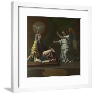 The Annunciation, 1657-Nicolas Poussin-Framed Giclee Print