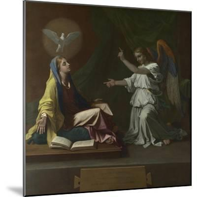The Annunciation, 1657-Nicolas Poussin-Mounted Giclee Print