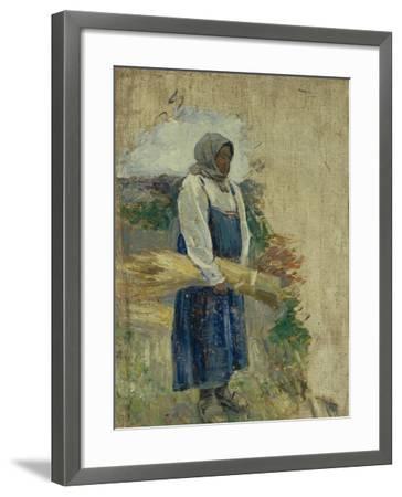 A Reaper, 1896-Viktor Elpidiforovich Borisov-musatov-Framed Giclee Print
