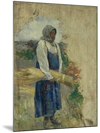 A Reaper, 1896-Viktor Elpidiforovich Borisov-musatov-Mounted Giclee Print