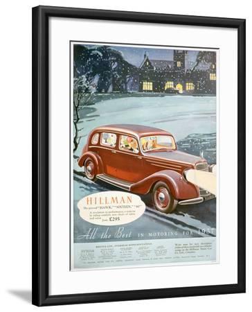 Advert for Hillman Motor Cars, 1936--Framed Giclee Print