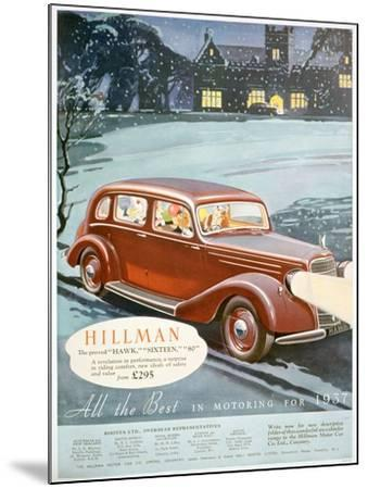 Advert for Hillman Motor Cars, 1936--Mounted Giclee Print