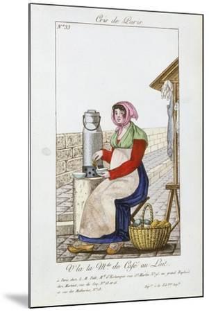 Café-Au-Lait Seller, 1826--Mounted Giclee Print