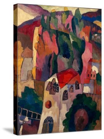 Poplars, 1916-Aristarkh Vasilyevich Lentulov-Stretched Canvas Print