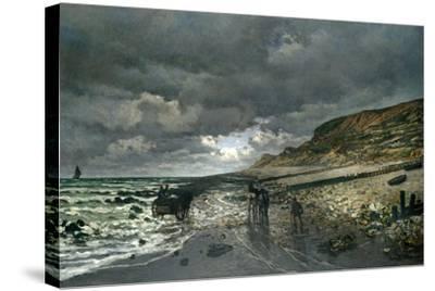 La Pointe De La Hève at Low Tide-Claude Monet-Stretched Canvas Print