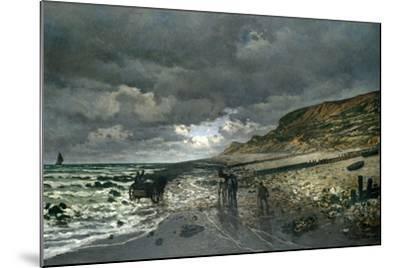 La Pointe De La Hève at Low Tide-Claude Monet-Mounted Giclee Print