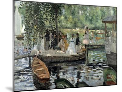 La Grenouillère, 1869-Pierre-Auguste Renoir-Mounted Premium Giclee Print