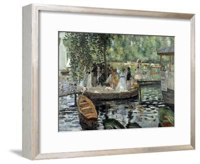 La Grenouillère, 1869-Pierre-Auguste Renoir-Framed Premium Giclee Print