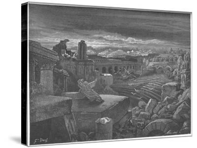 Isaiah's Vision of the Destruction of Babylon, 1897-Gustave Dor?-Stretched Canvas Print