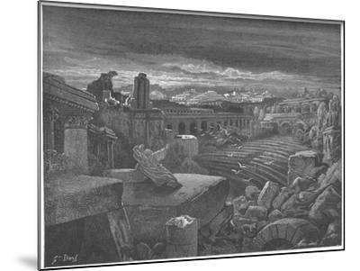 Isaiah's Vision of the Destruction of Babylon, 1897-Gustave Dor?-Mounted Giclee Print