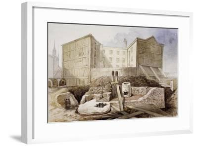 Roman Ruins at the Coal Exchange, London, 1848--Framed Giclee Print