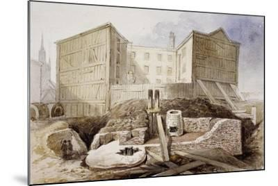 Roman Ruins at the Coal Exchange, London, 1848--Mounted Giclee Print