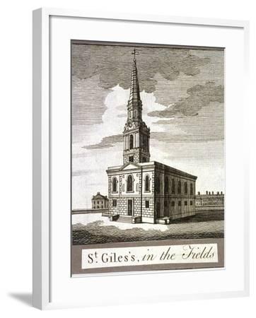 St Giles in the Fields, Holborn, London, C1750--Framed Giclee Print
