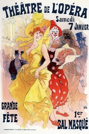 Théatre De L'Opéra, Bal Masqué, 1898-1899-Jules Ch?ret-Stretched Canvas Print
