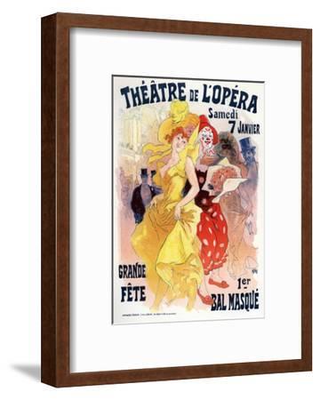 Théatre De L'Opéra, Bal Masqué, 1898-1899-Jules Ch?ret-Framed Giclee Print