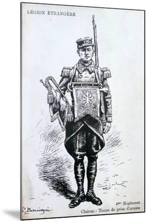 Bugler, 4th Regiment of the French Foreign Legion, 20th Century--Mounted Giclee Print