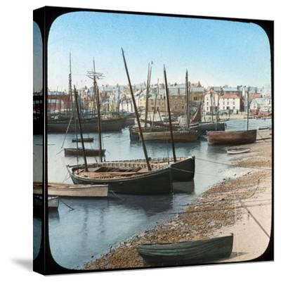 Fishing Fleet, St Ives, Cornwall, Late 19th or Early 20th Century--Stretched Canvas Print