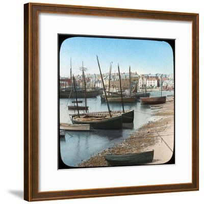 Fishing Fleet, St Ives, Cornwall, Late 19th or Early 20th Century--Framed Giclee Print