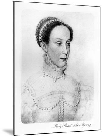 Mary Stuart When Young--Mounted Giclee Print