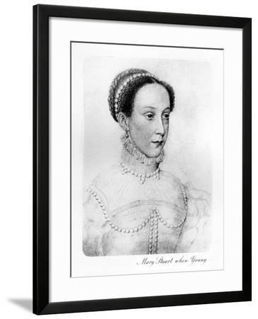 Mary Stuart When Young--Framed Giclee Print