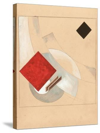 Study (For the Story of Two Quadrat), C. 1920-El Lissitzky-Stretched Canvas Print