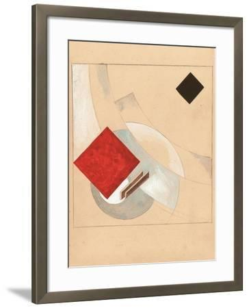 Study (For the Story of Two Quadrat), C. 1920-El Lissitzky-Framed Giclee Print