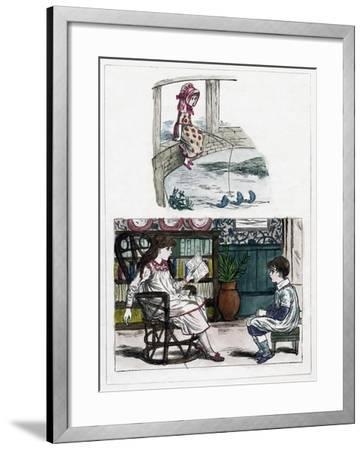 A Print from the Little Folk's Nature Painting Book by Kate Greenaway, C1880s--Framed Giclee Print
