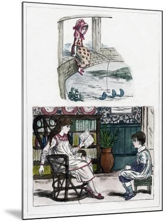 A Print from the Little Folk's Nature Painting Book by Kate Greenaway, C1880s--Mounted Giclee Print