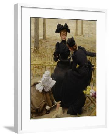 Conversation in the Jardin Du Luxembourg, 1892--Framed Giclee Print