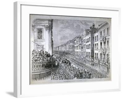 Fleet Street - the Civic Authorities in the Procession, City of London, C1850--Framed Giclee Print
