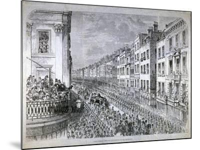 Fleet Street - the Civic Authorities in the Procession, City of London, C1850--Mounted Giclee Print
