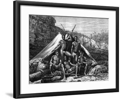 Bassoutos, South Africa, 19th Century- St de Dree-Framed Giclee Print
