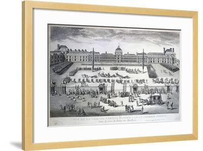 Parade of the Troops During the Grand Parade, Tuileries Palace, 19th Century--Framed Giclee Print