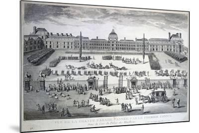 Parade of the Troops During the Grand Parade, Tuileries Palace, 19th Century--Mounted Giclee Print