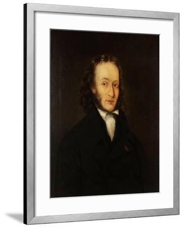 Portrait of Niccolò Paganini (1782-184), 1836-John Whittle-Framed Giclee Print