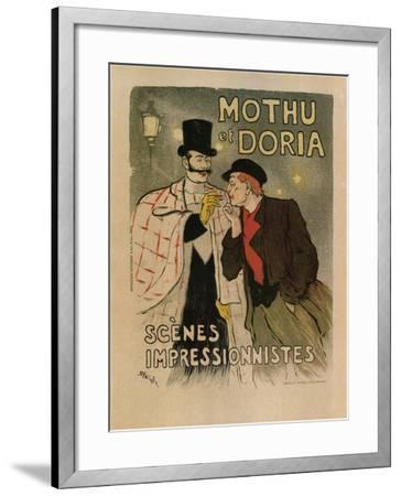 Mothu and Doria. (Scènes Impressioniste), 1893-Th?ophile Alexandre Steinlen-Framed Giclee Print