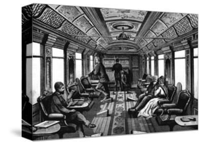 Saloon Car on the Orient Express, C1895--Stretched Canvas Print